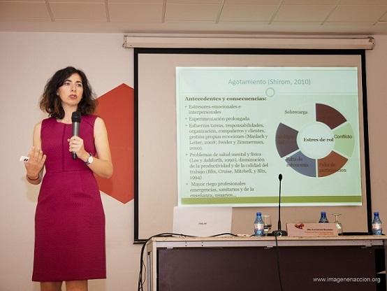 Dª Eva Garrosa Hernández, Profesora Dpto. Psicología Biológica y de la Salud de la U.A.M.