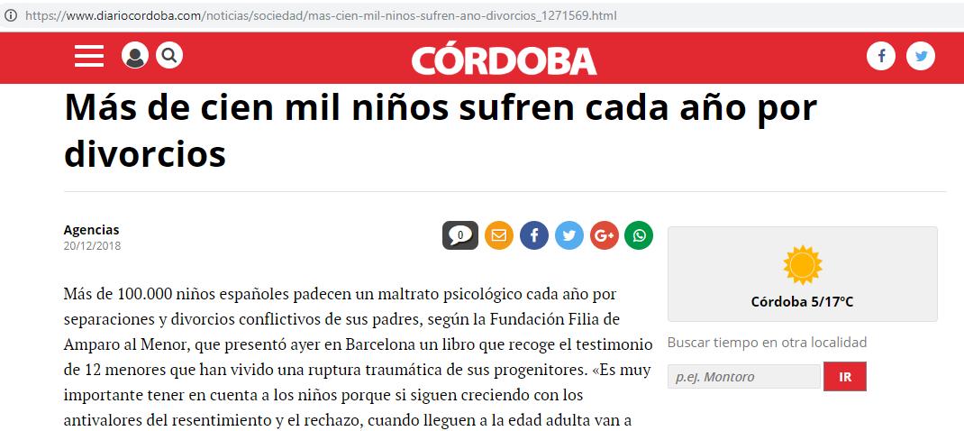 Noticia publicada en el Diario de Córdoba