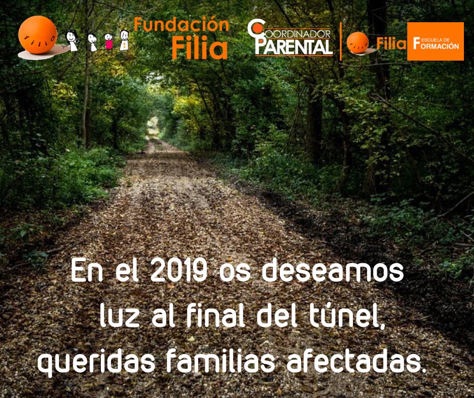En el 2019 os deseamos luz al final del túnel, queridas familias afectadas