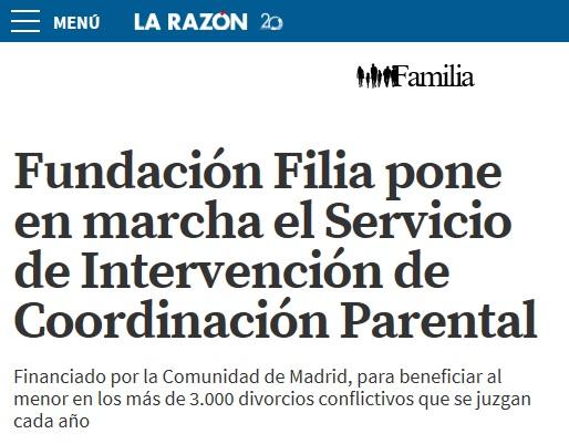 Fundación Filia y el servicio de Coordinación Parental en La Razón