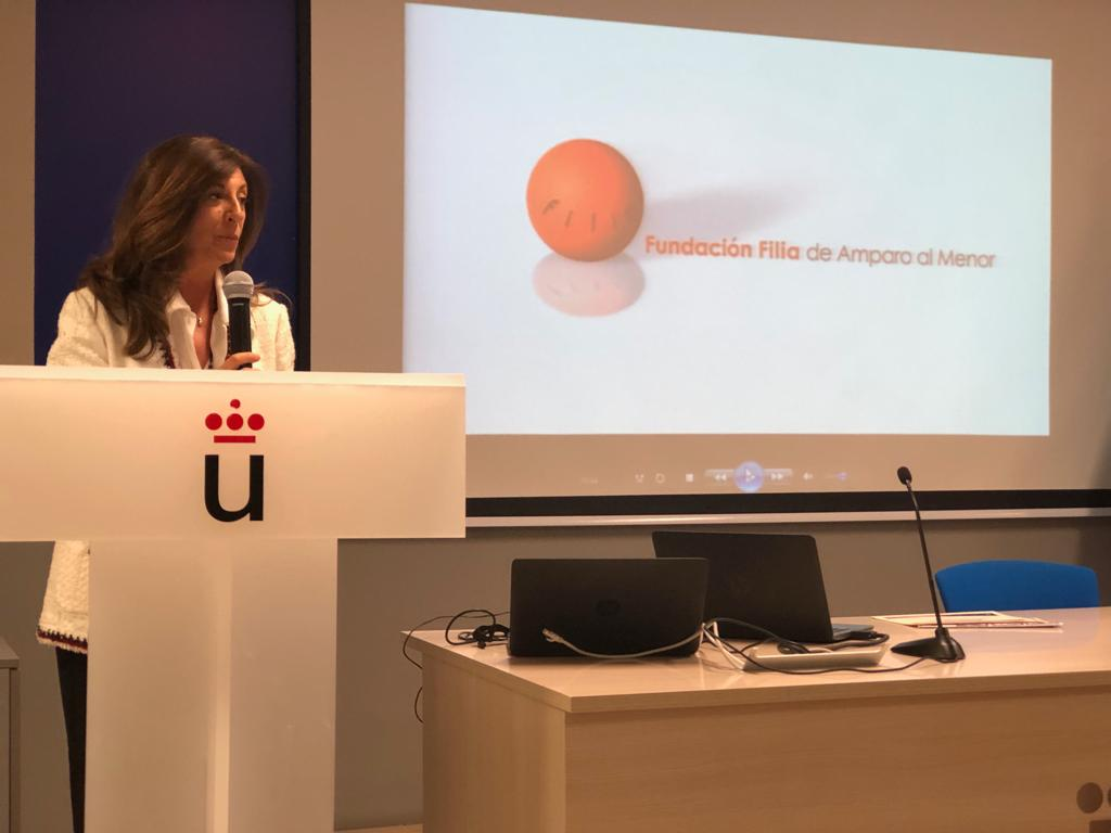 Lucía del Prado en la Clausura del Curso de Especialista en Coordinación Parental