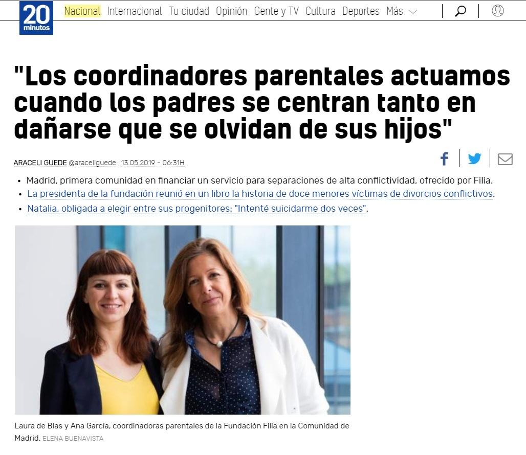Coordinador Parental Fundación Filia Servicio de la Comunidad de Madrid