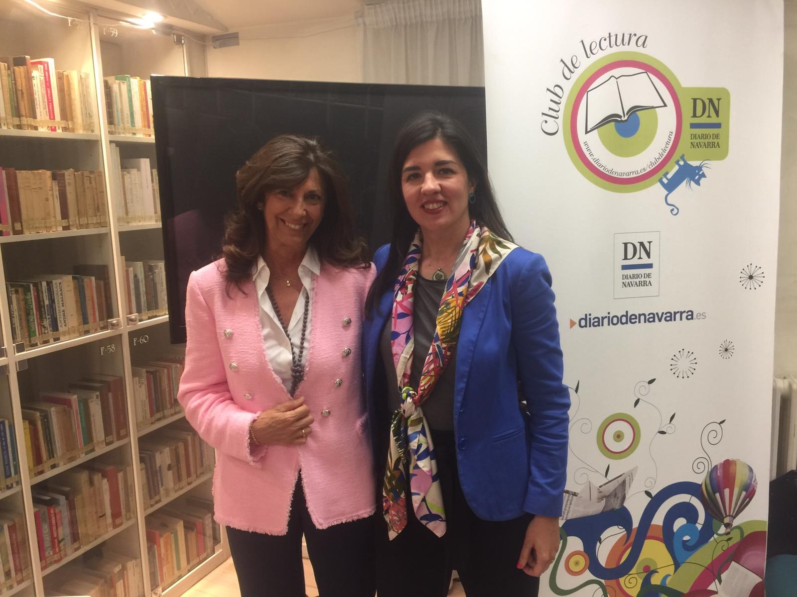 Sonsoles Echevarren de Diario de Navarra y Lucia del Prado