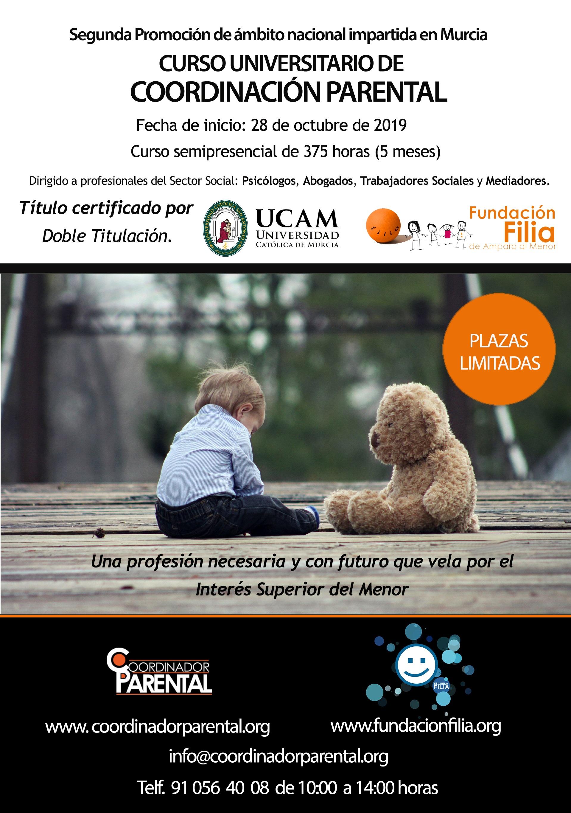 Segunda Promoción en Coordinación Parental de Fundación Filia y la UCAM