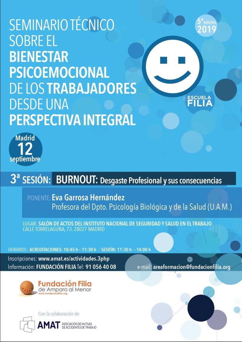 Tercera Jornada del Ciclo Formativo Bienestar Psicoemocional de los Trabajadores organizado por Escuela Filia de Resolución de Conflictoscon la colaboración de AMAT.